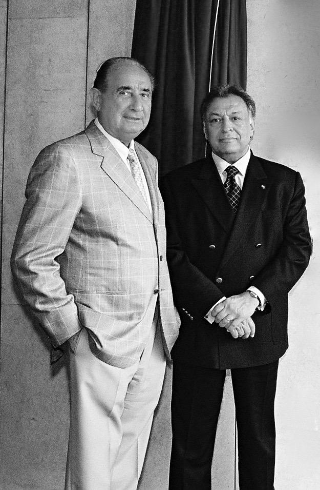 Josef Buchmann und Zubin Mehta