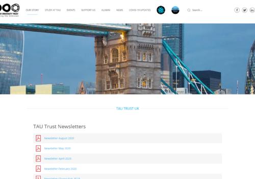 Screenshot_2020-09-26 Our Story • TAU Trust UK Tel Aviv University Trust